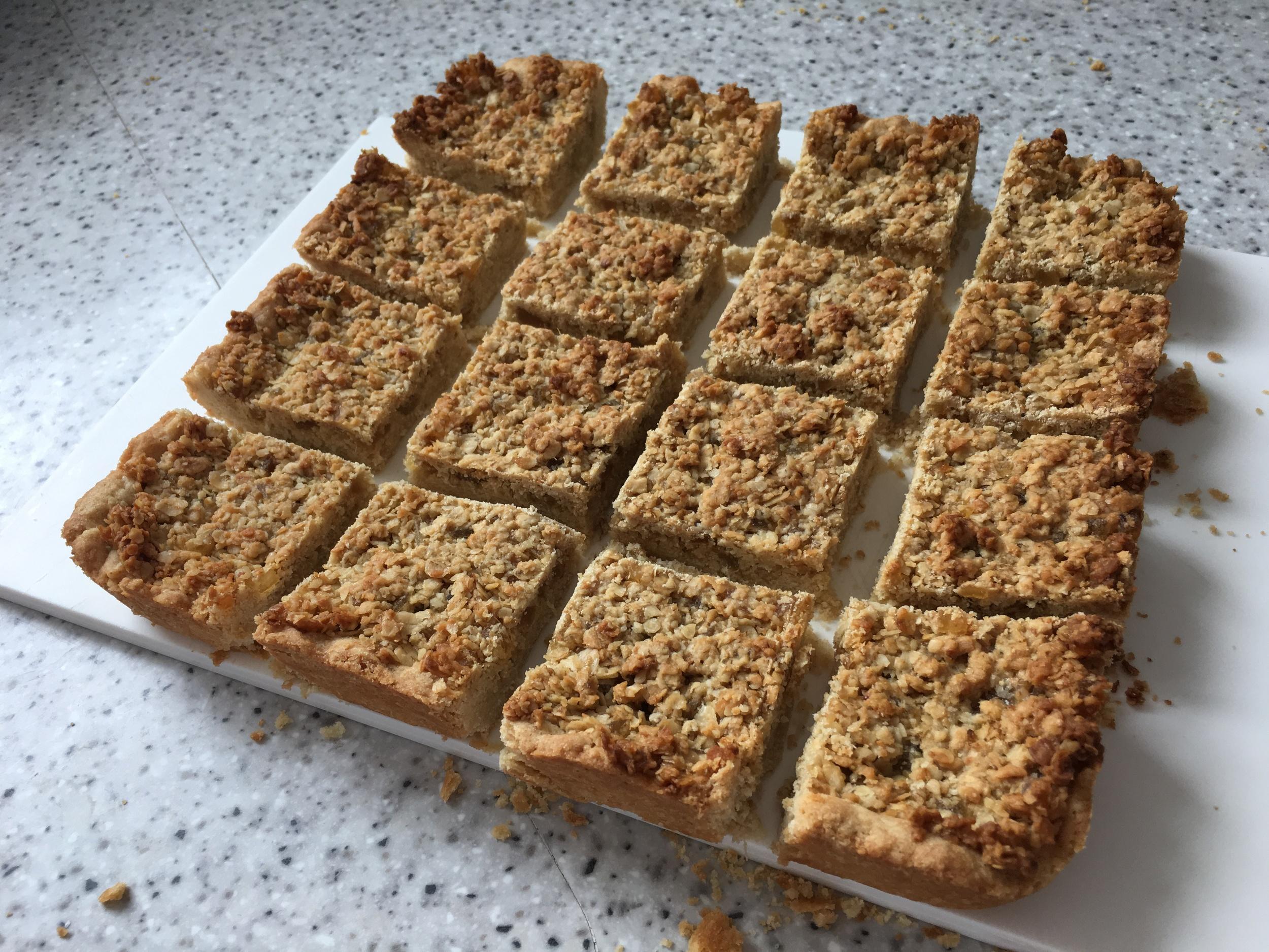 Ginger oat squares
