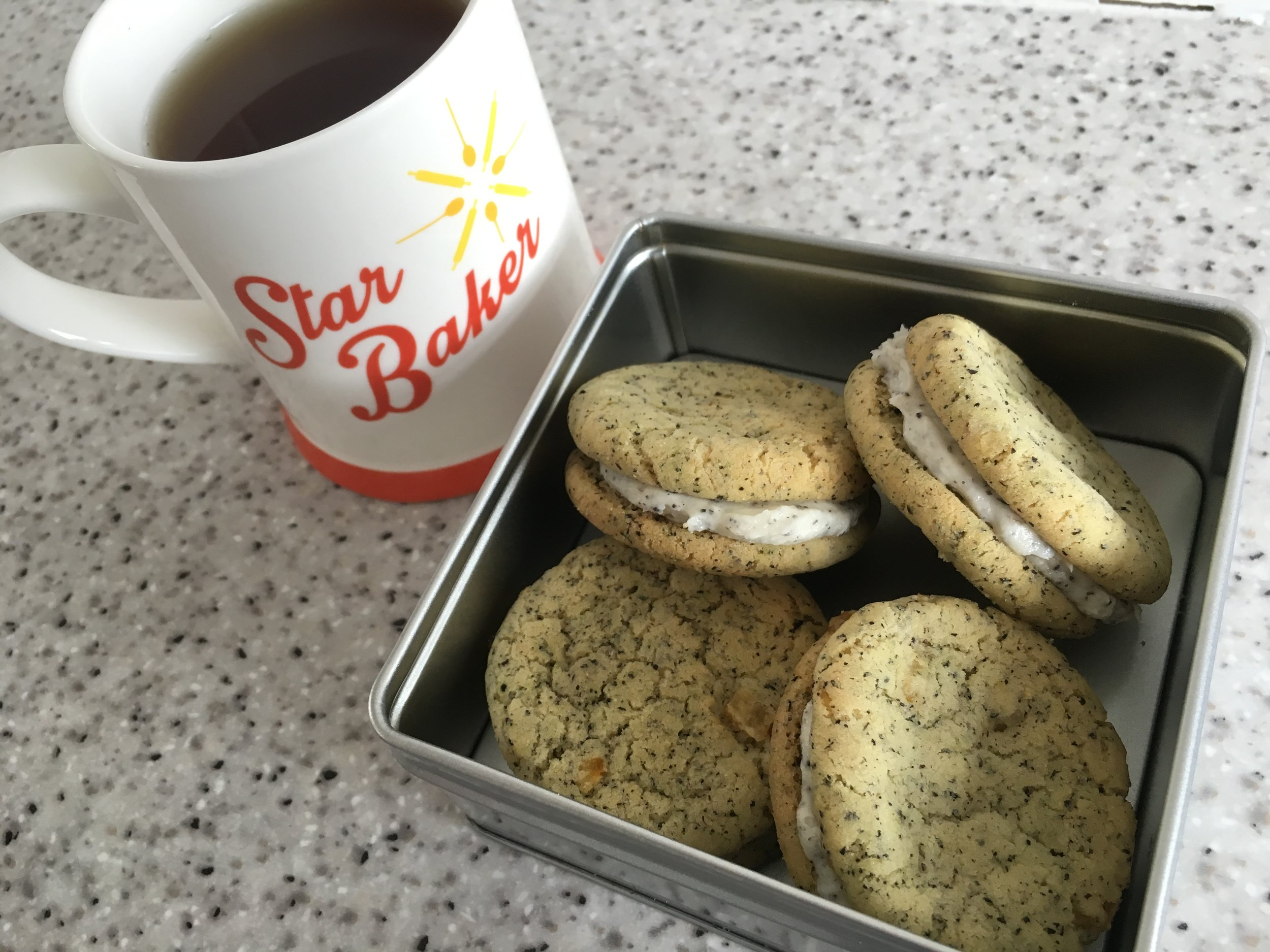 Lady Grey sandwich cookies