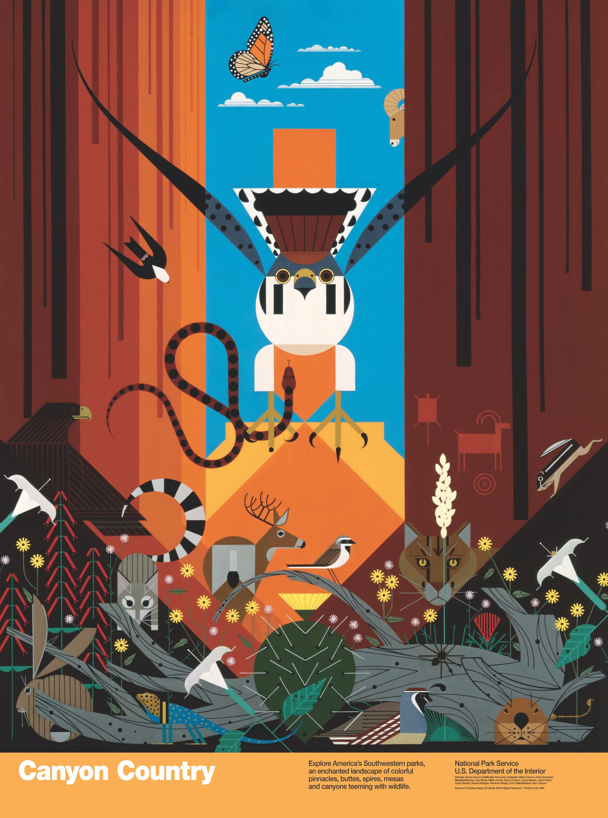 Canyon Country (Charley Harper)