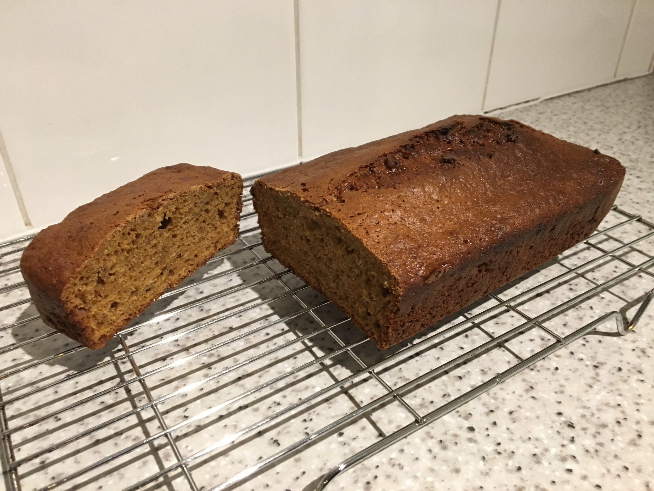 Cinnamon banana tea loaf