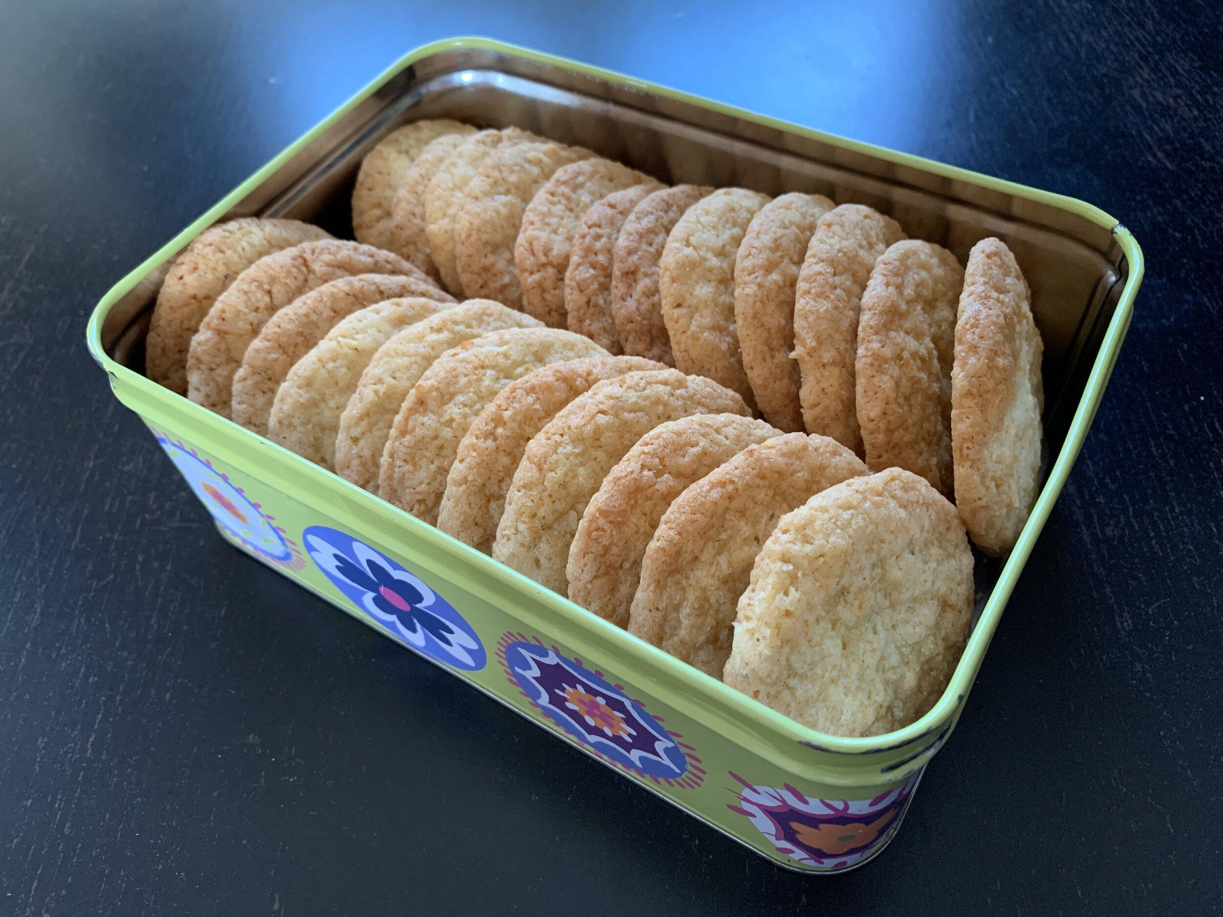 Orange lemon coconut biscuits