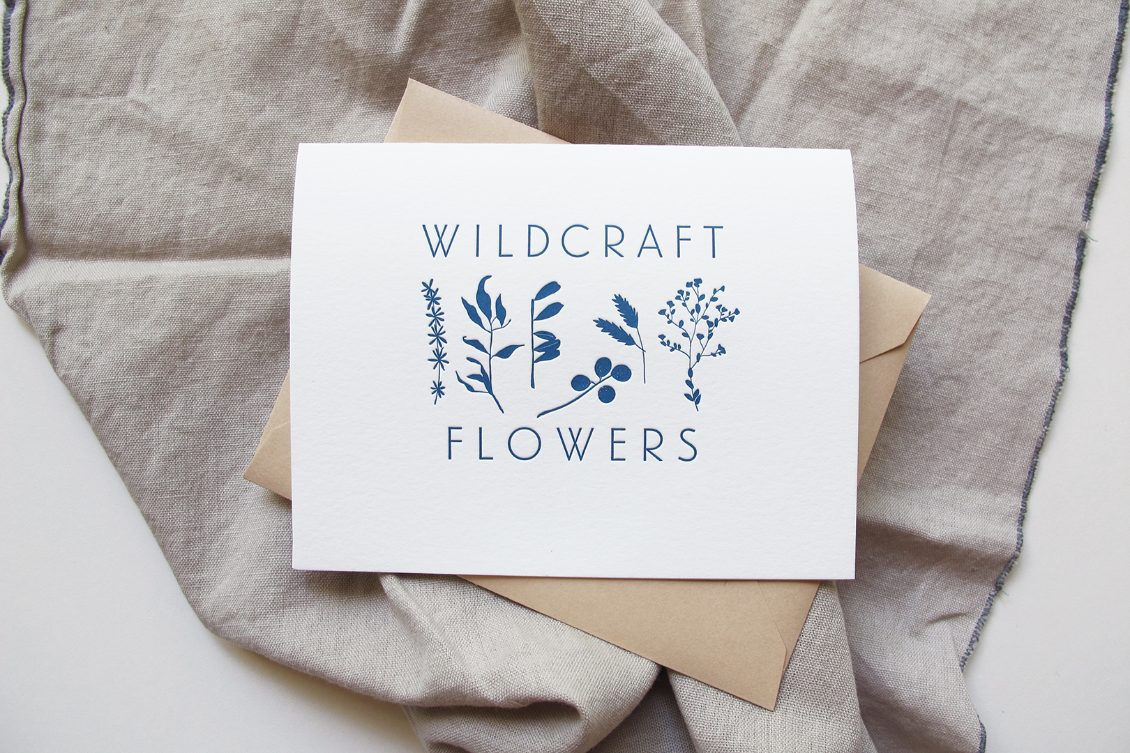 Branding & Letterpress Collateral: Wildcraft Flowers
