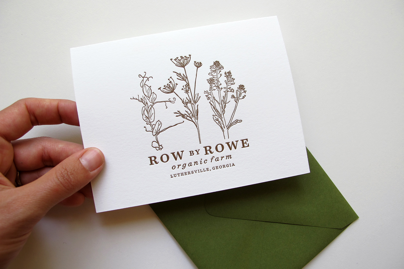 Bradning & Letterpress Collateral: Row by Rowe Farm