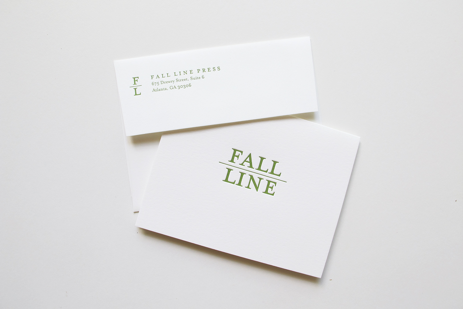 Branding, Letterpress Collateral, & Book Design: Fall Line Press