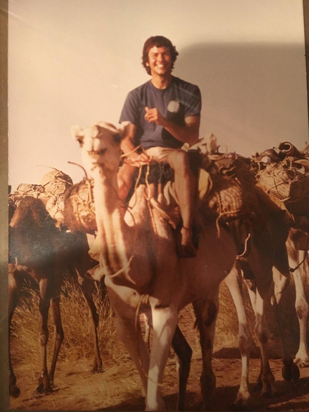 """Jeff Lacksen, aka """"Action Lacksen"""", Sahara Desert. Circa 1980'"""