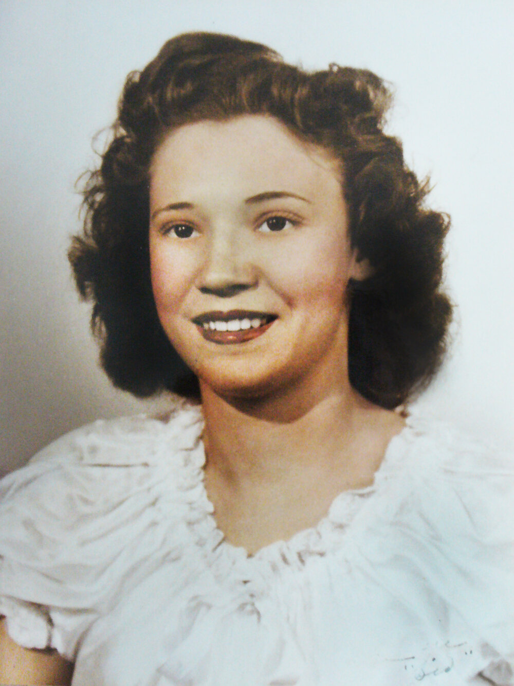Mamaw, Lauren's great-grandmother, when she was young. She was born and raised in rural Tennessee, loved plants, and had many of them.