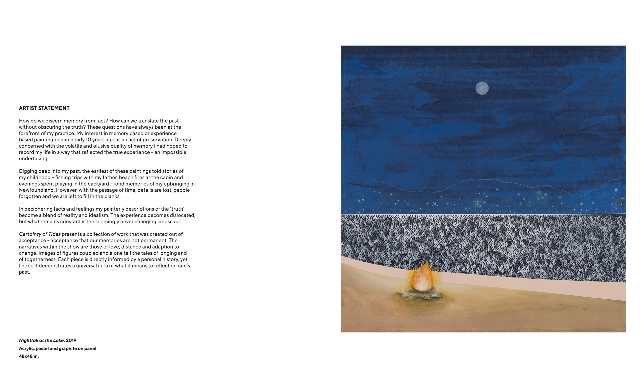 Catalogue for Mike Gough's 'Certainty of Tides'
