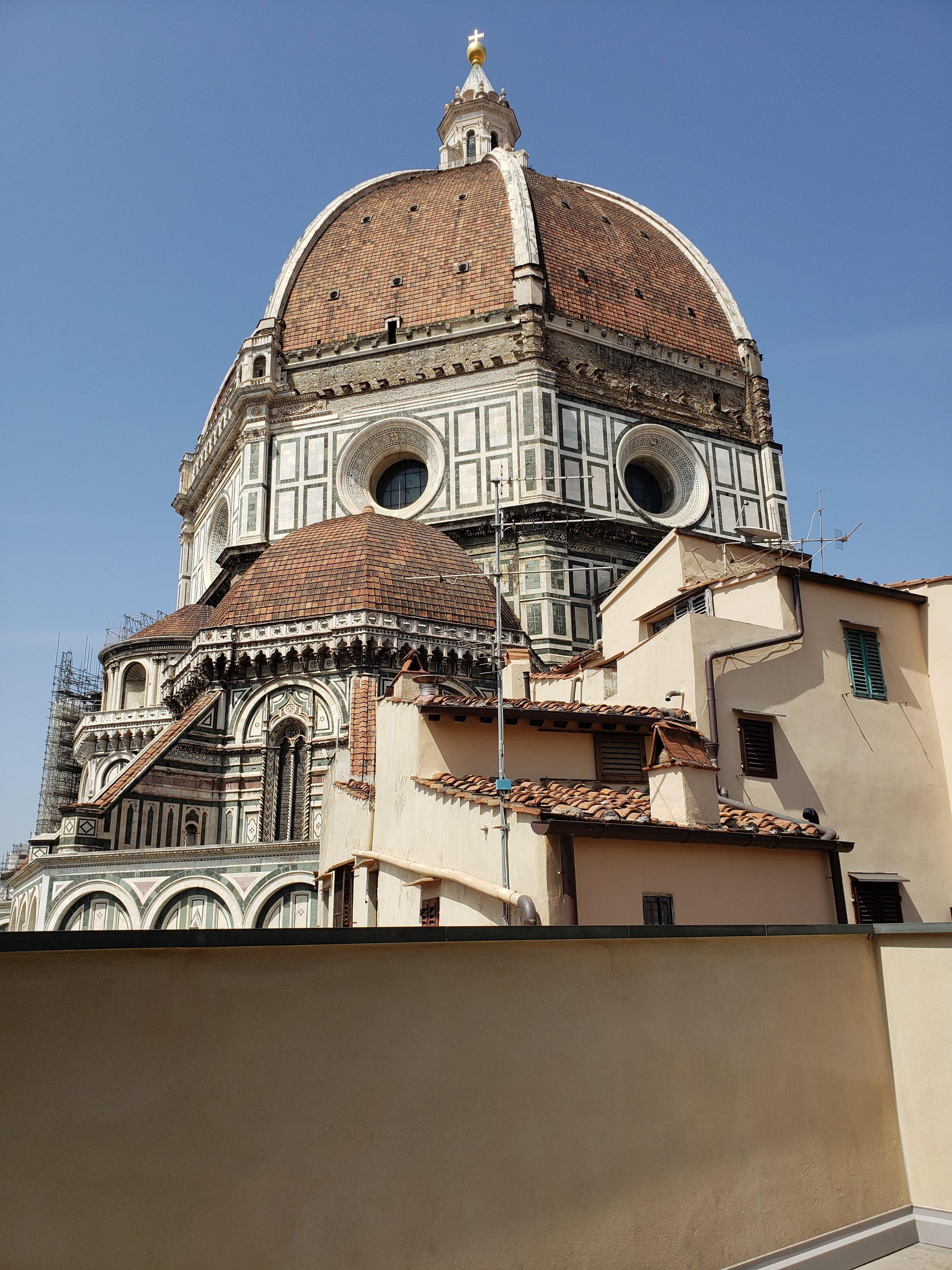 View of Brunelleschi's dome from the Museo dell'Opera del Duomo