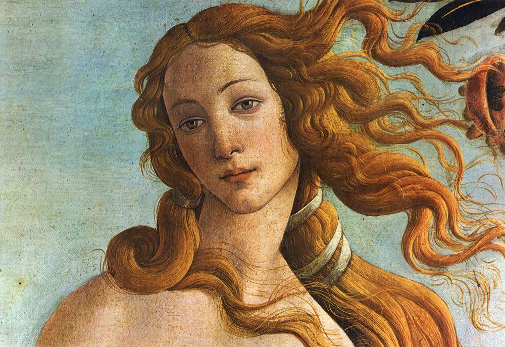 Botticelli,  Birth of Venus  (detail)
