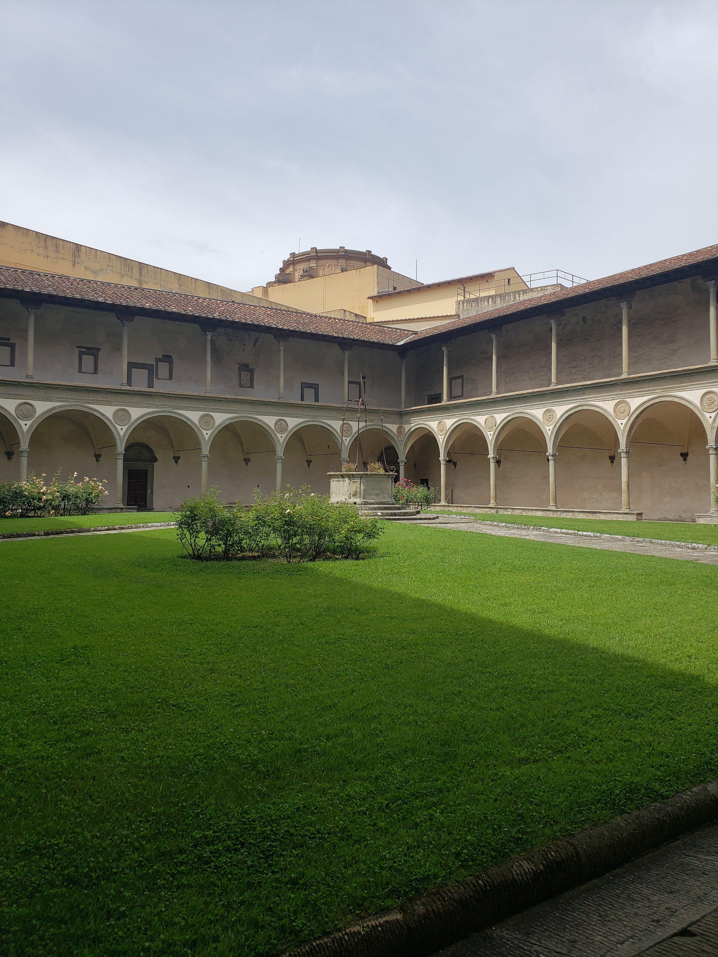 The beautiful Santa Croce cloister