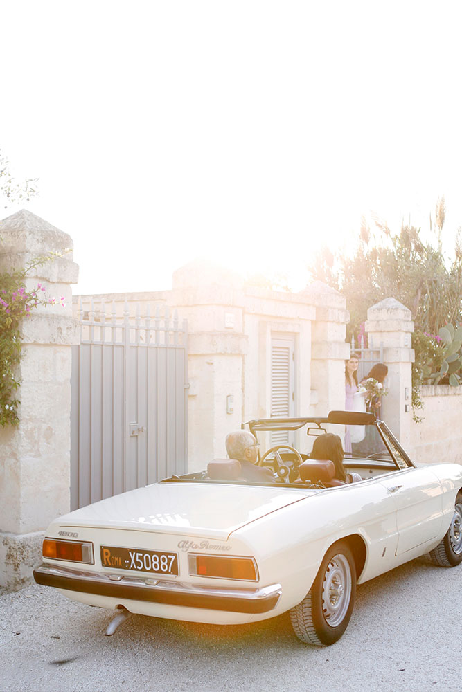 a cute vintage car to enjoy the masserias and wineries -