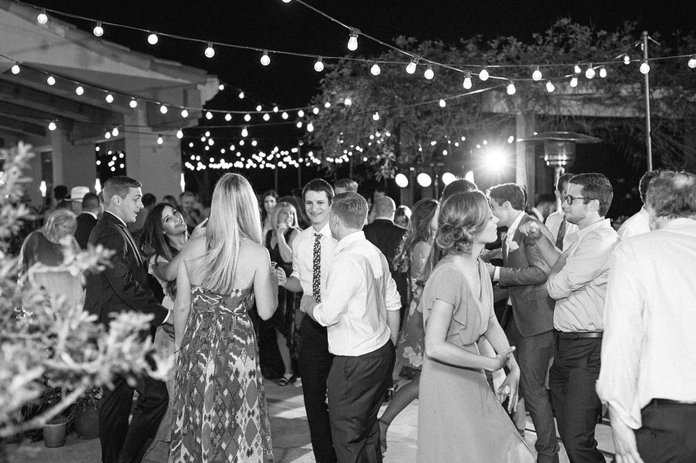 with the sun down, the lights came up and they danced the night away -