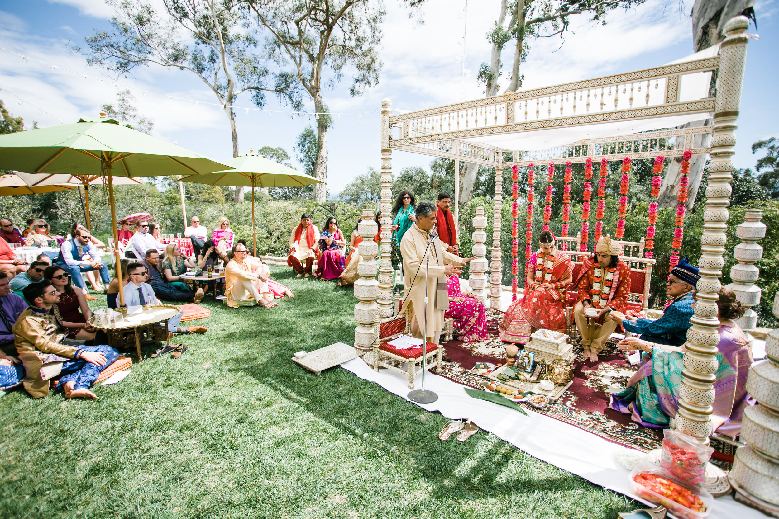 a traditional Indian ceremony in the beautiful California sunshine -