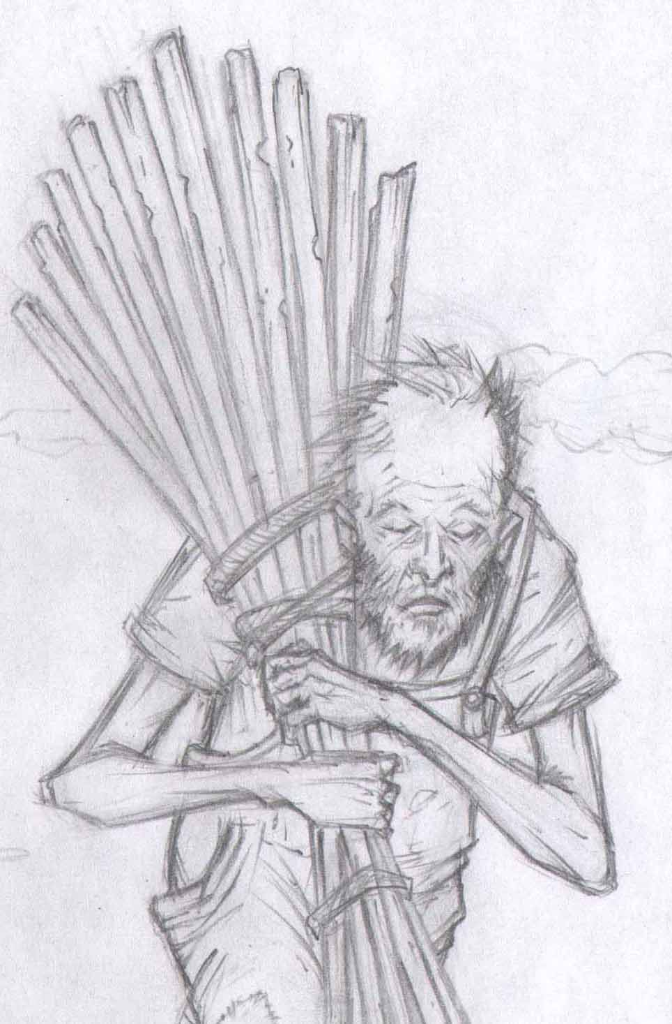 Uncle Henry in Kansas, Art by Emonic.