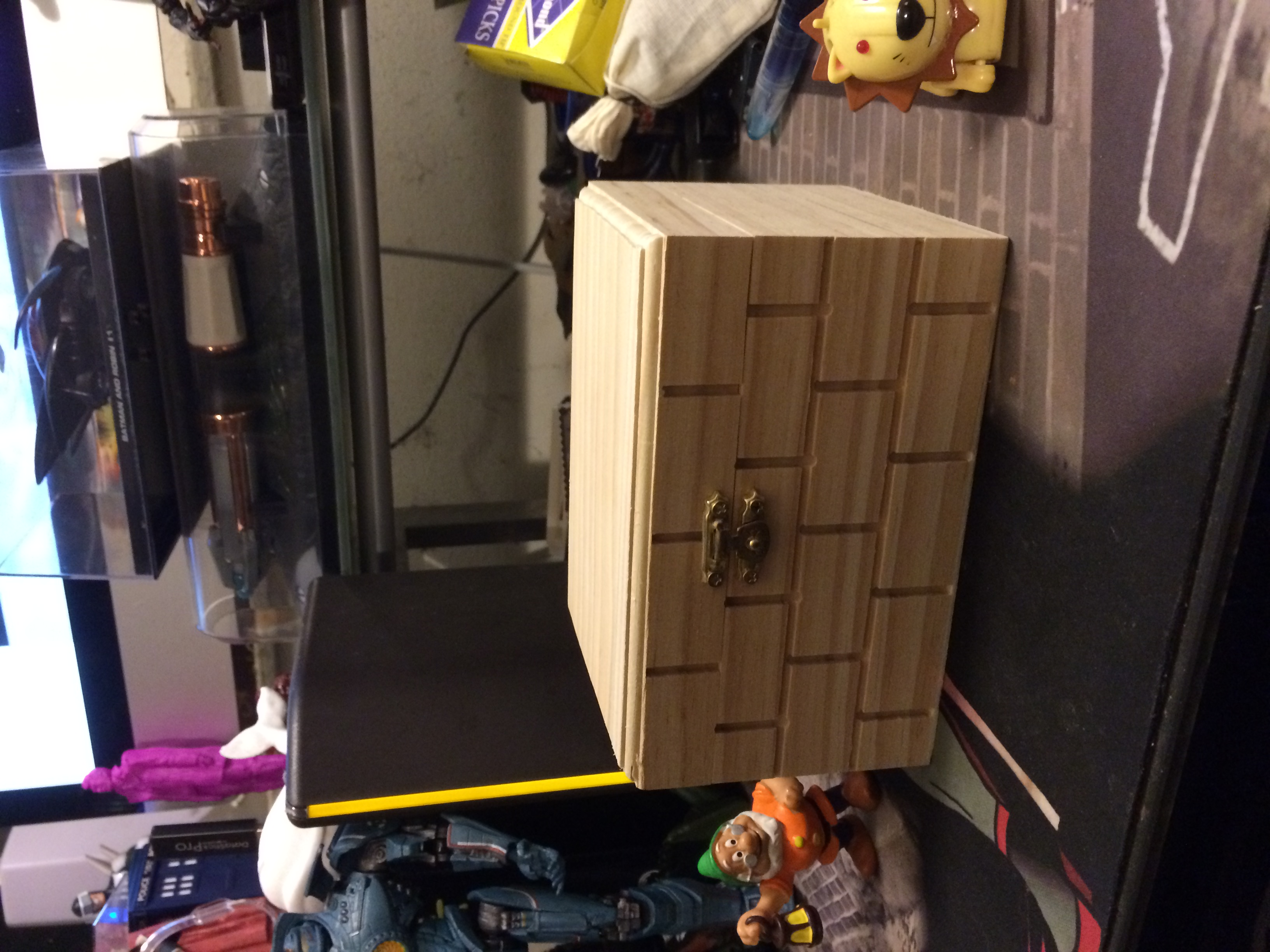 Lion, Dwarf, and hard drive for scale