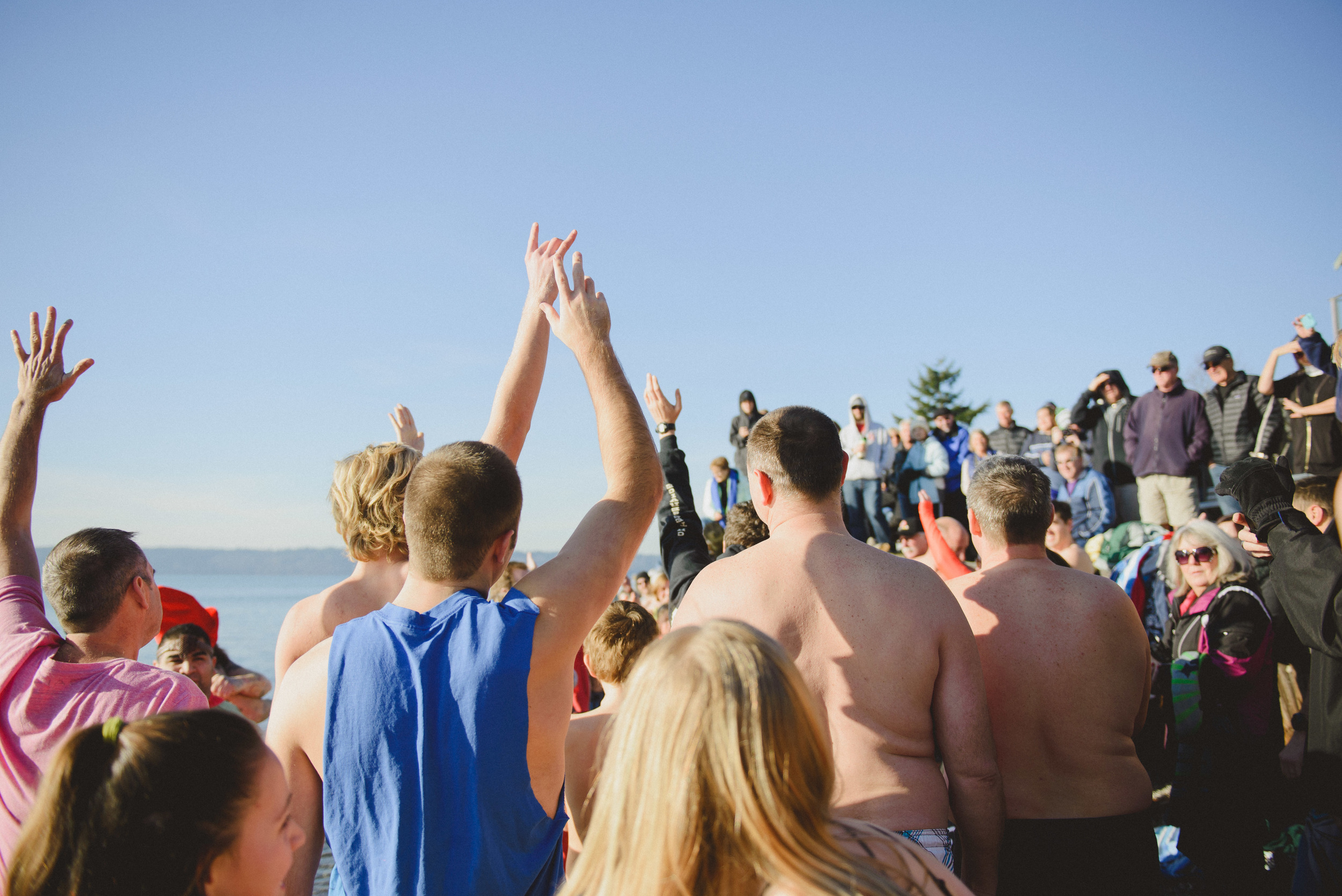 A show of hands for who has participated in past plunges.