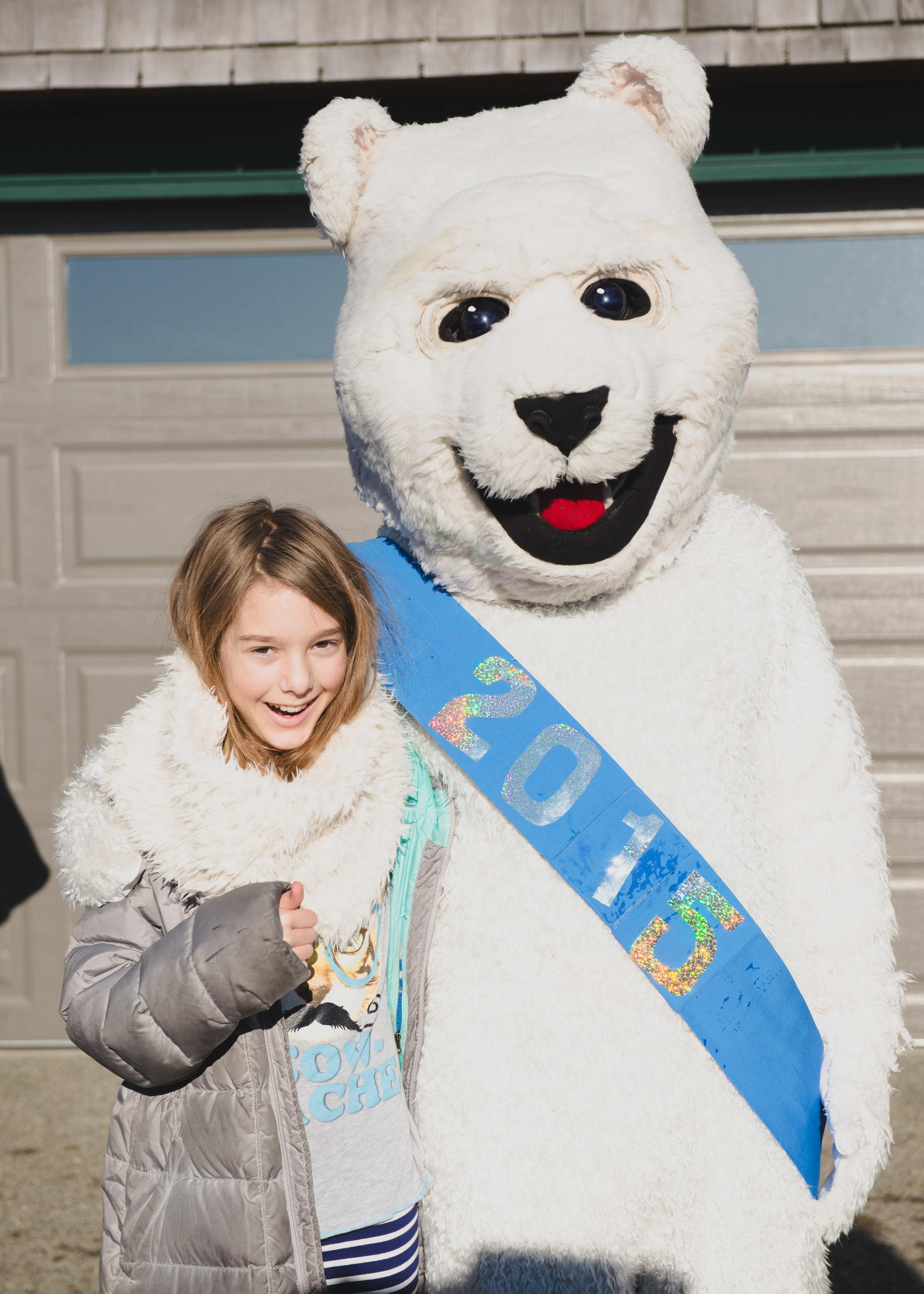 Britta and the polar bear.