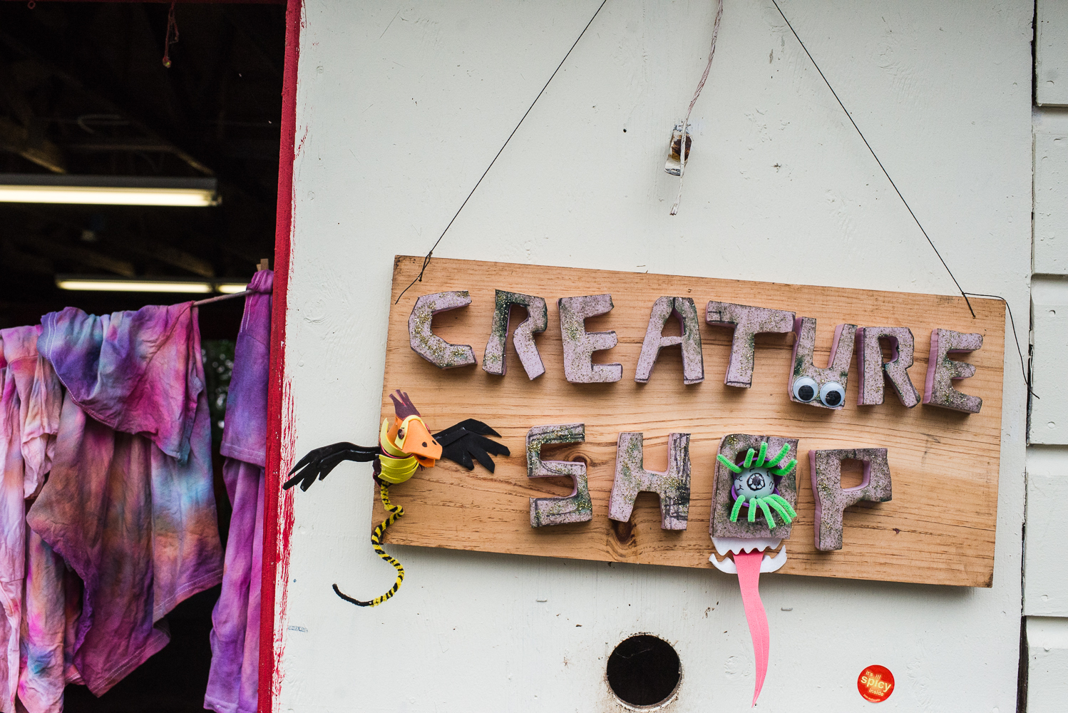 "Not sure what the ""creature shop"" is but I liked the creative sign."