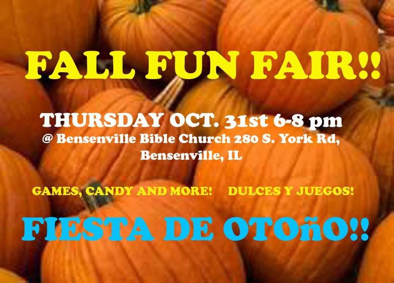 Join us for our annual Fall Fun Fair!