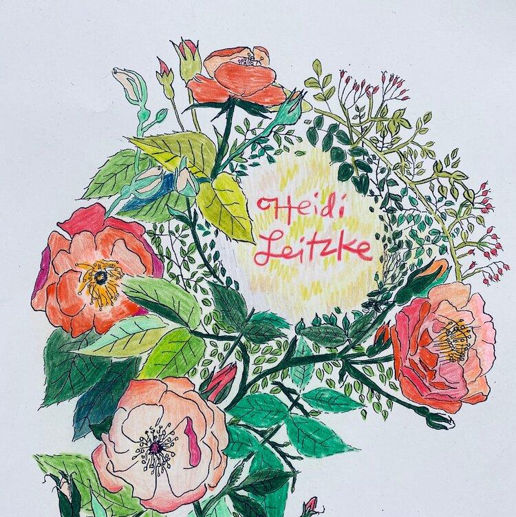 My Backyard Garden A Portfolio Of Coloring Pages Heidi Leitzke