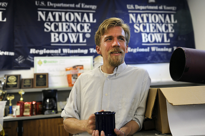 North Hollywood High School Science Bowl team coach Altair Maine. (Michael Owen Baker/Staff Photographer)