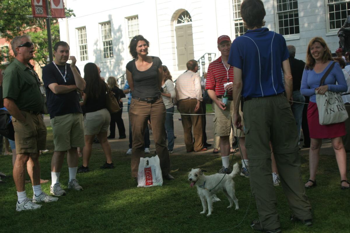 Demo in Harvard Yard
