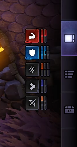 I love that you get a break down of alliances including benched heroes(the black bit on the shield is a benched warrior)