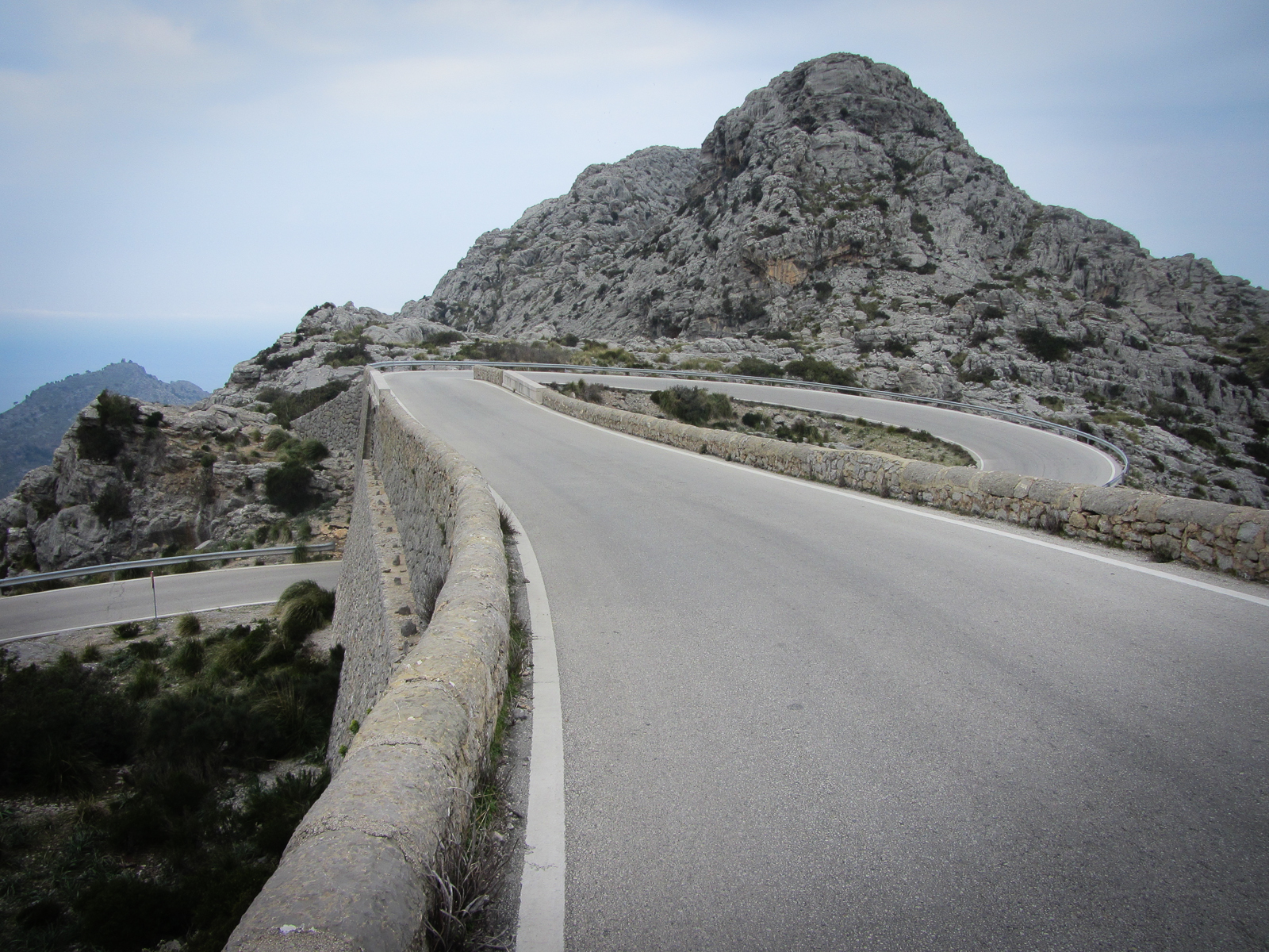 A famous part of the road in the descent to Sa Calobra.