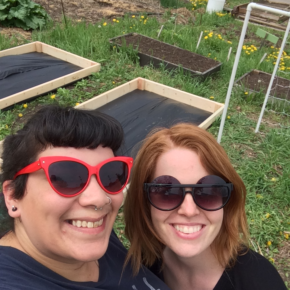 Stacy and I built the beds!