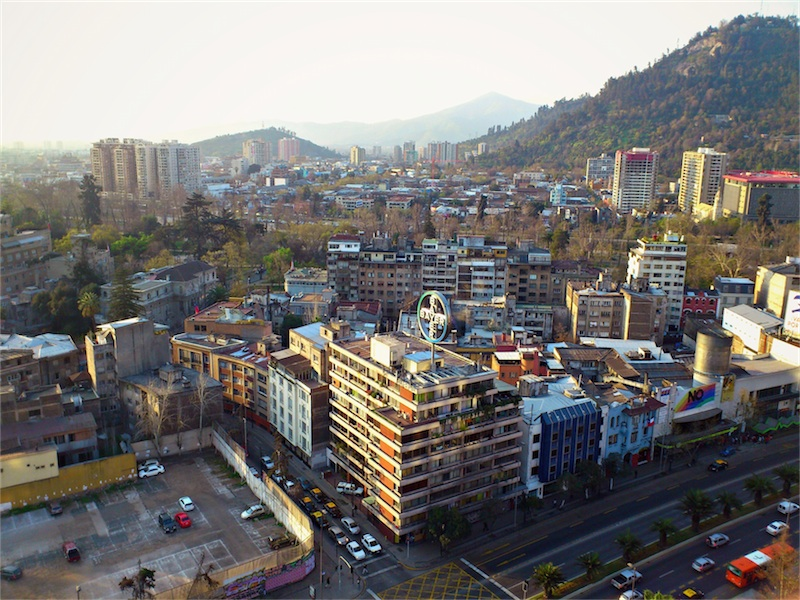 The Chilean capital city of Santiago is in the country's central valley, with a view of the Andes in the east and, in the immediate surroundings, scenic hills like Cerro San Cristóbal. (Photo byMigs Bassig)
