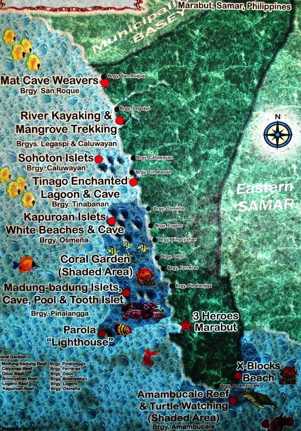 Marabut Ecotourism Map  (Photo by Bernard L. Supetran)