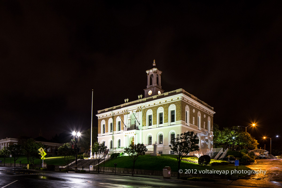 The South San Francisco City Hall is modeled after Philadelphia's Independence Hall.  (Photo by Voltaire Yap)