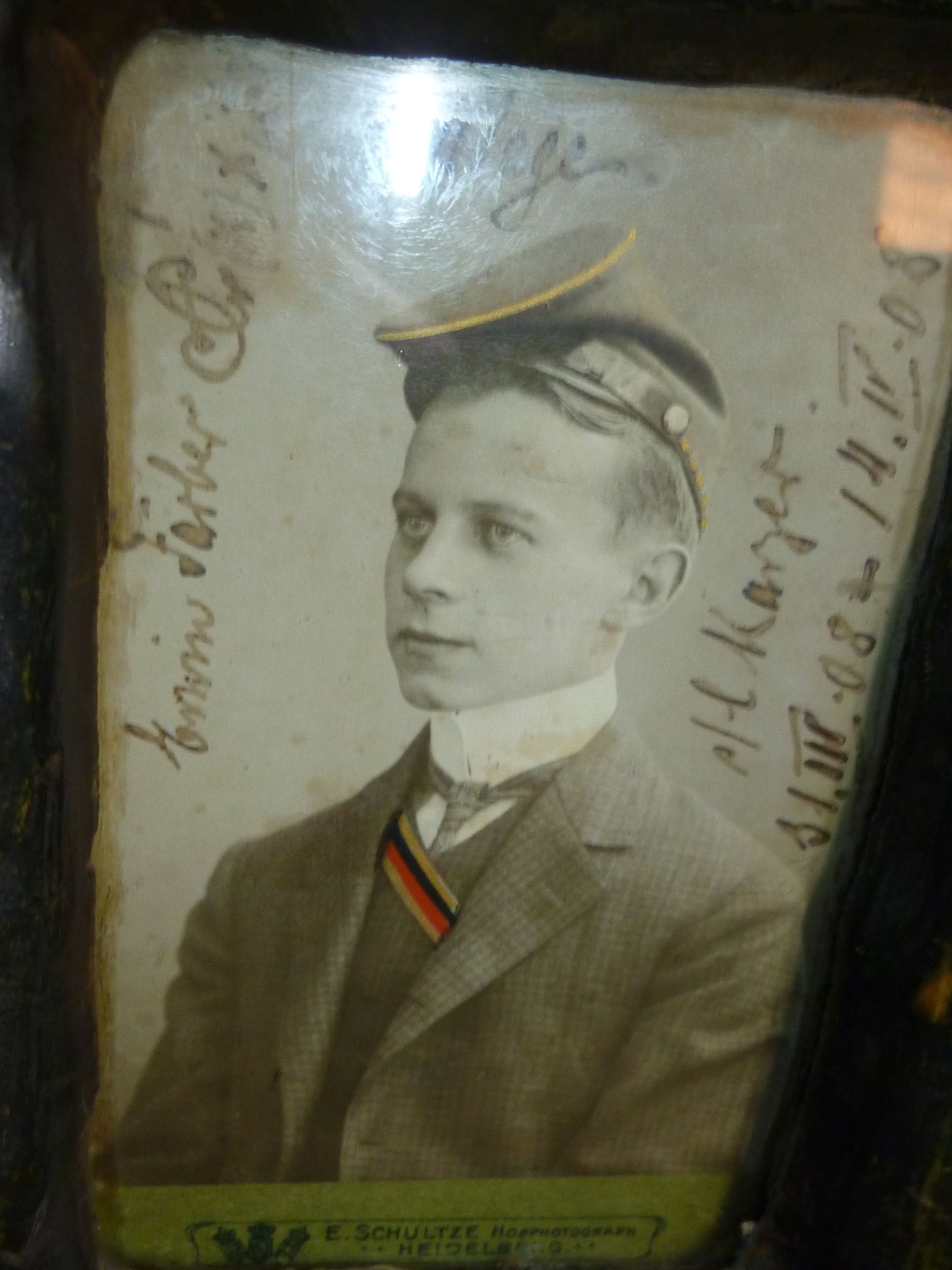 Astudent wearing the fraternity hat circa 1889