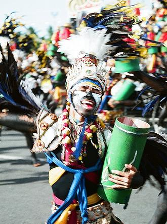 The Dinagyang Festival in Iloilo, fourth Sunday of January  (Photo by Encino Dee)