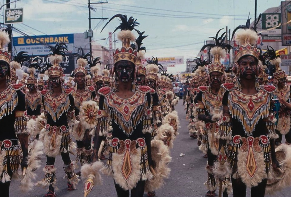 The Dinagyang Festival in Iloilo, fourth Sunday of January (Photo courtesy of the Philippine Department of Tourism)