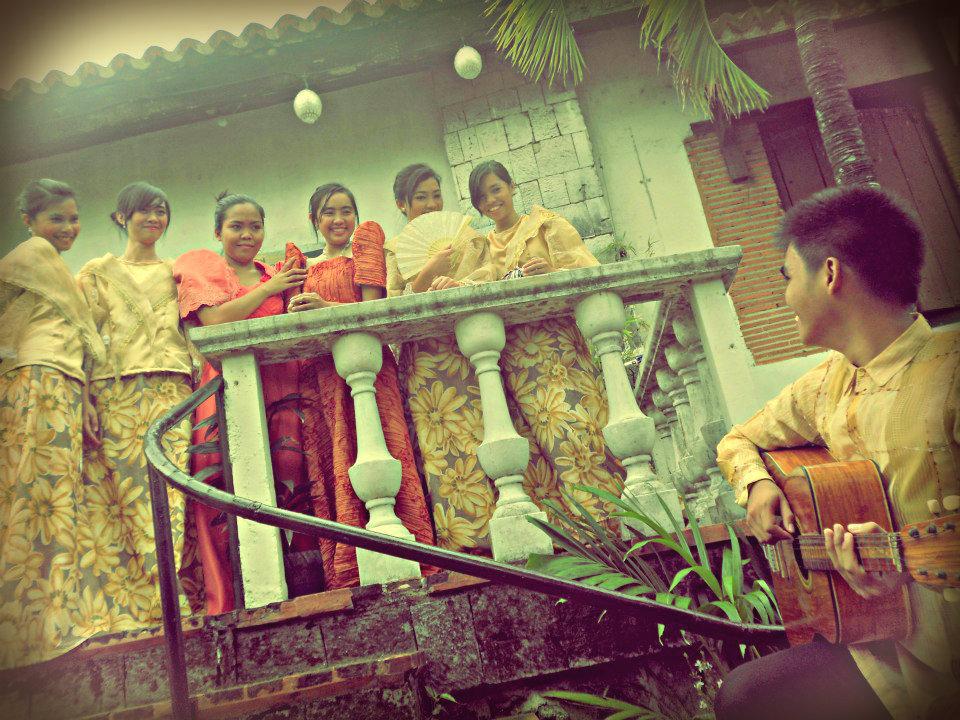 The harana , with traditional  barong tagalog  and  baro't saya   (Photo by   Mikee Pepito )
