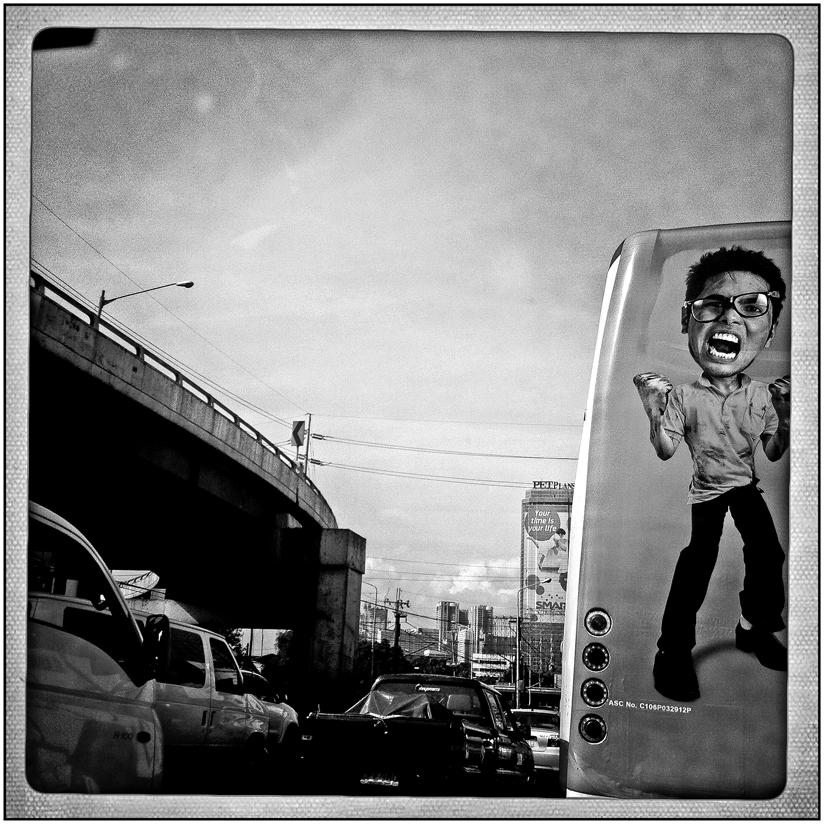 Traffic!!!! on EDSA  (  Photo by Rick   Rocamora )