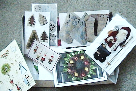 "The ""winter"" box: full of images with Christmas and winter themes"
