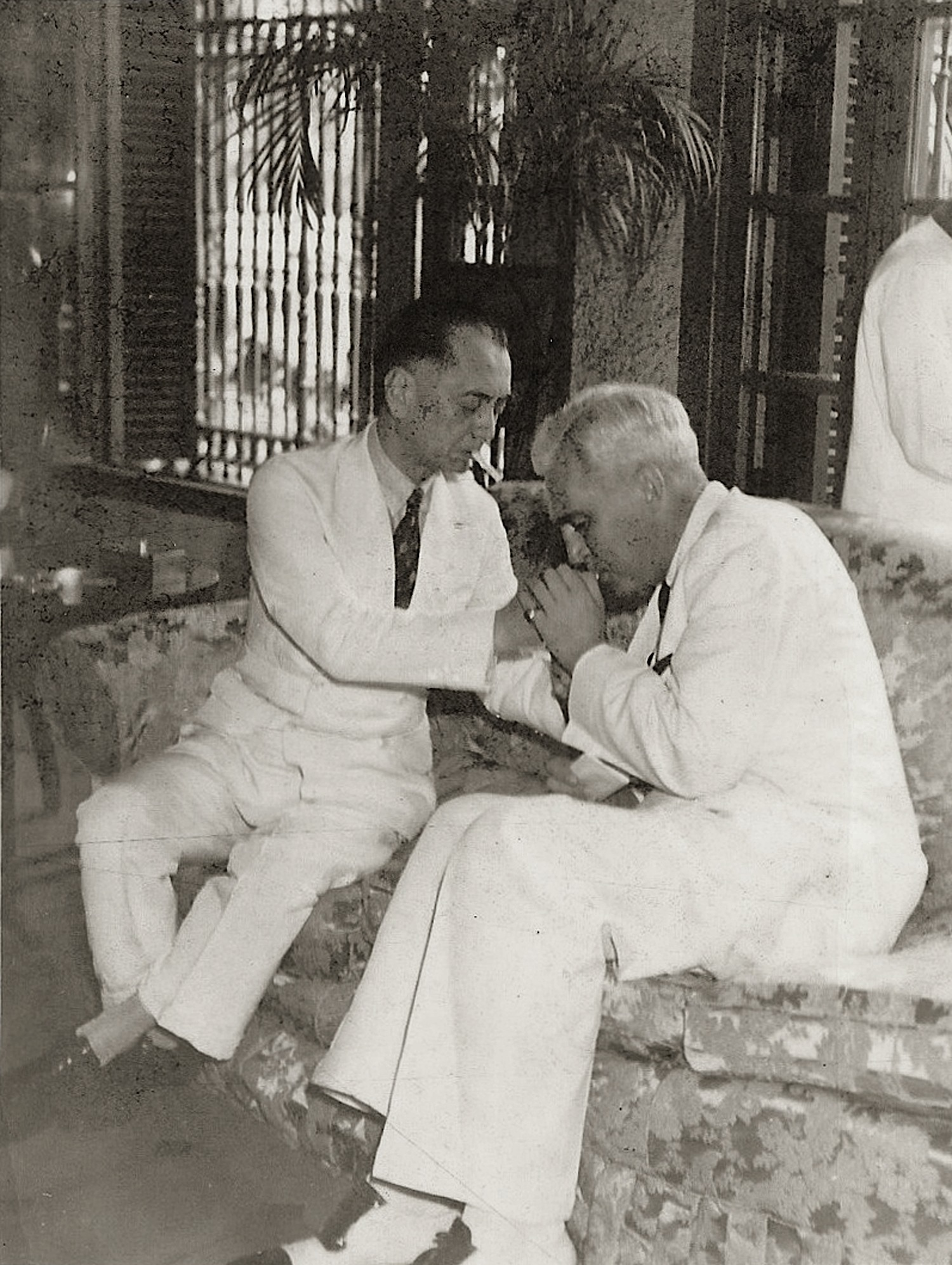 President Quezon with U.S. High Commissioner McNutt, 1938