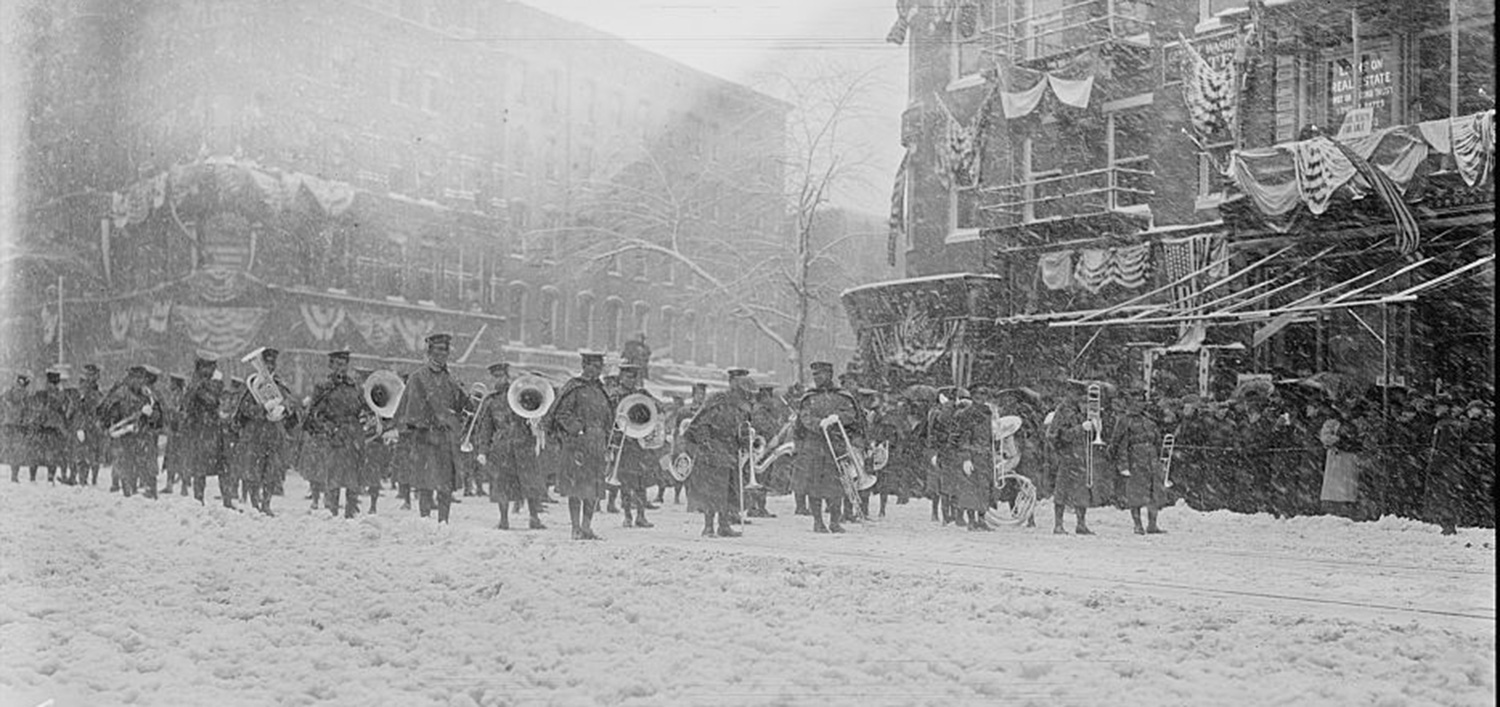 The Philippine Constabulary Band played at the 1909 inauguration of President William Howard Taft.  (Source: U.S. Library of Congress)