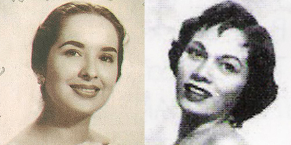 Gloria Romero (left) during her heyday as Sampaguita Pictures' movie queen  (Source: movie-industry.blogspot.com).  Caridad Sanchez (right) as LVN's star  (Source: womenslawcenter.org).