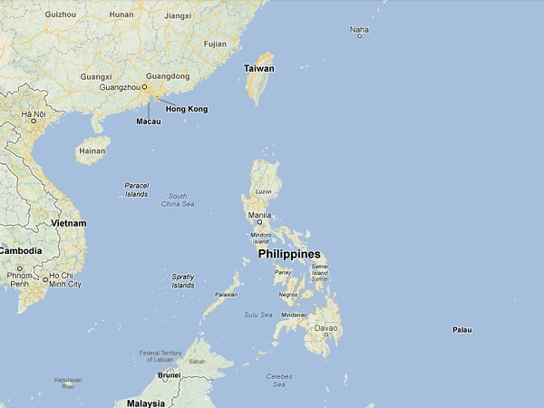 Map of Philippines and Taiwan  (Source: www.defence.pk)