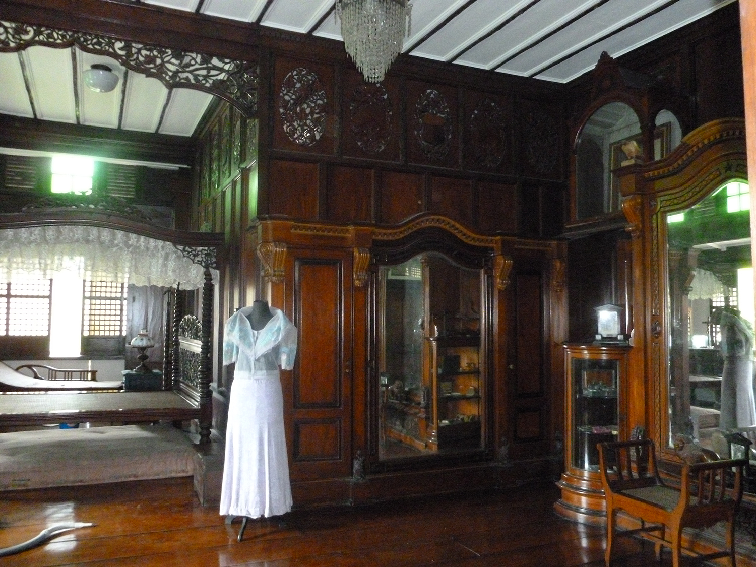 Master bedroom of General and Mrs. Emilio Aguinaldo  (Photo by Elizabeth Ann Quirino)