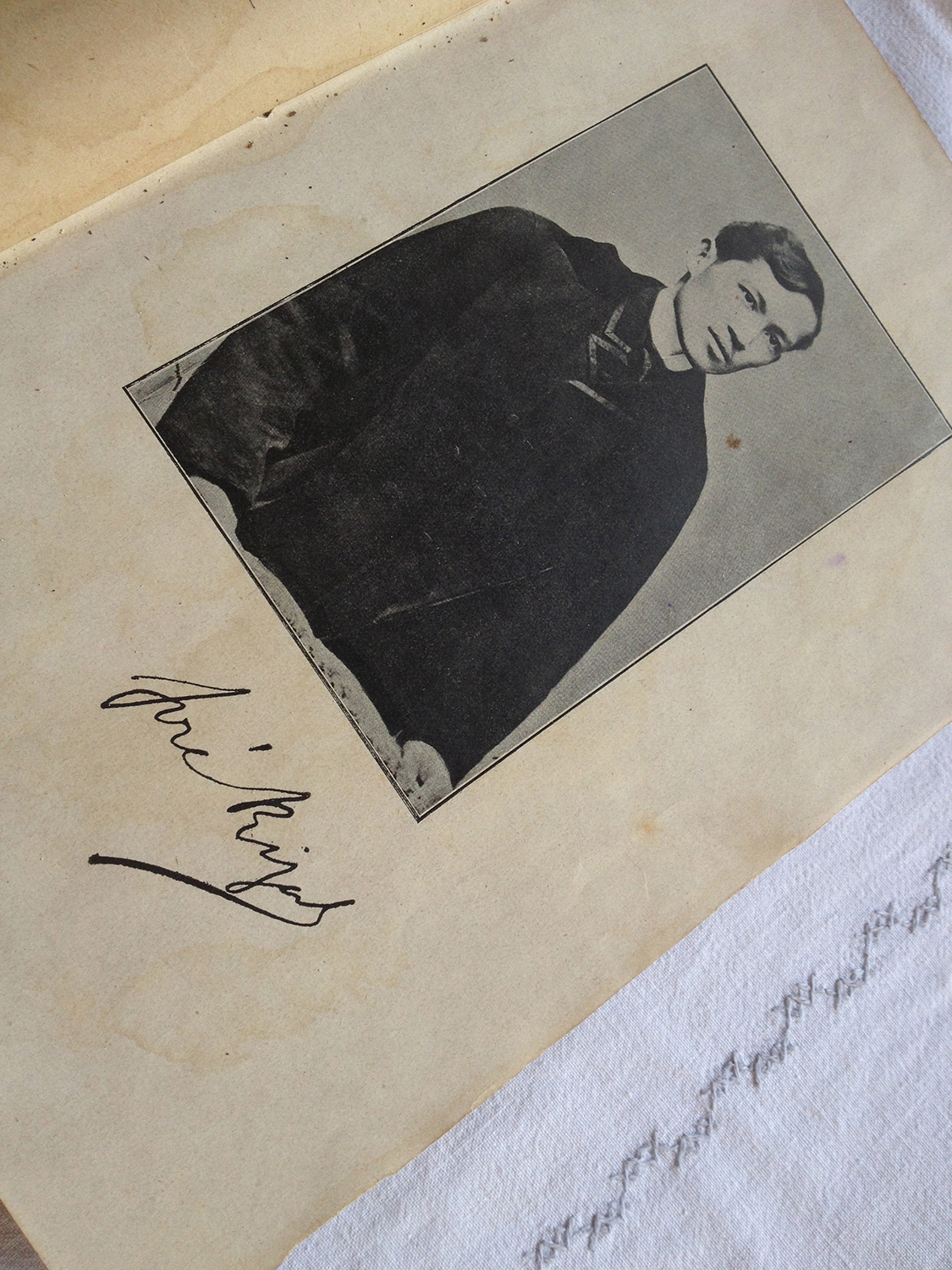 Jose Rizal signed the copy of the Noli Me Tangere that he gave to Leonor Rivera. (Photo by Elizabeth Ann Quirino)