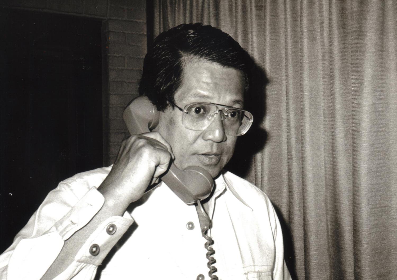 AquinoattheTaipeiGrandHotel,1983 (PhotocourtesyofKenandLupitaKashiwahara)