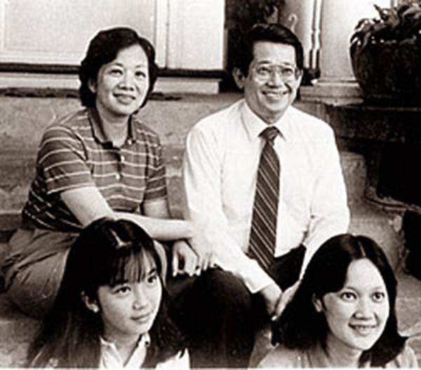 The Aquino family in Boston (clockwise from top left): Cory, Ninoy, Ballsy and Kris  (Source: philstar.com)