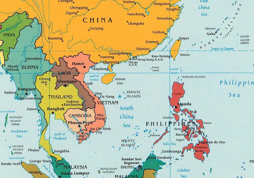 ThePhilippines'proximitytoChinawasobviouslyafactorinDatuMatalam'srequestformilitaryaidfortheMuslimsecessionistmovementin1971. (Source:www.middlebury.com,CIA2003)