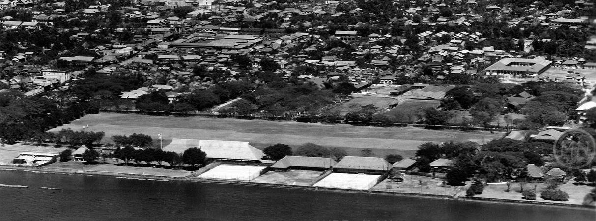 Sky view of the Polo Club, circa 1935