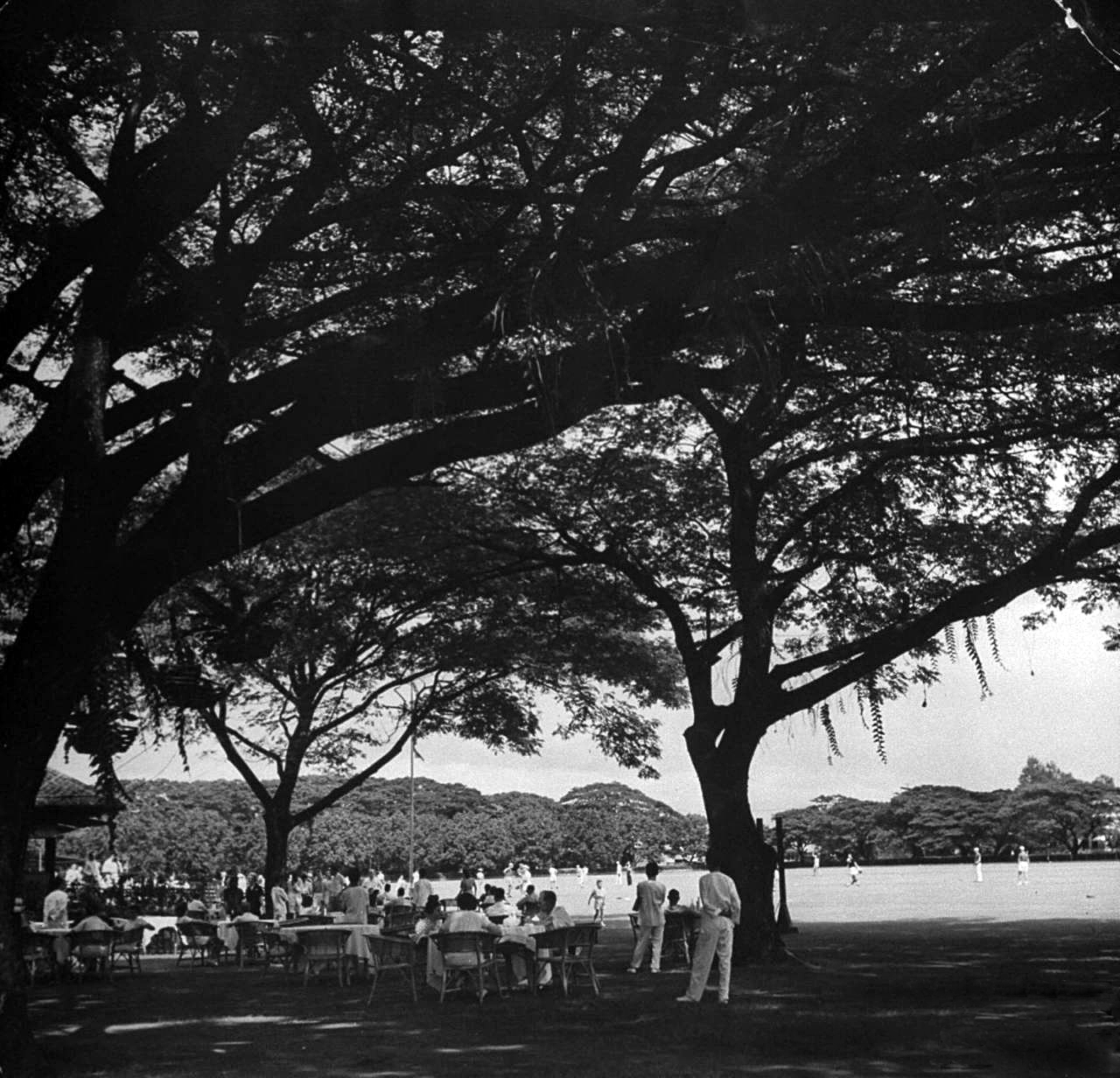 Baseball game at the Polo Club, circa 1941