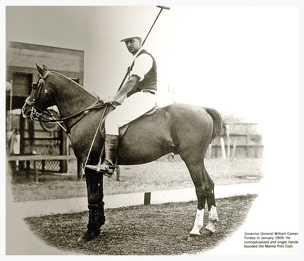 William CameronForbes on horseback